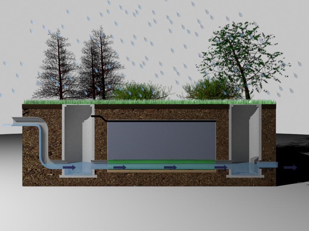 Bassin de r tention enterr geolight retention eaux pluviales - Bassin de retention pour maison individuelle ...